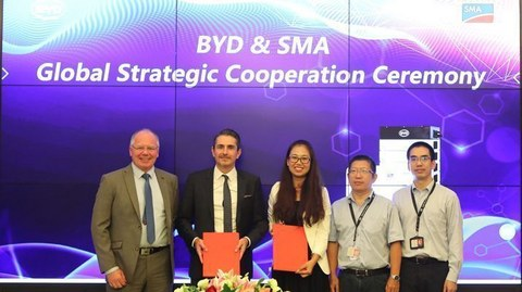 SMA and BYD Expand Strategic Global Storage Partnership for International Growth Regions
