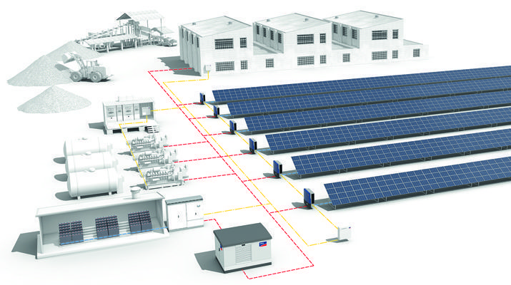 SMA Supplies System Technology for World's Largest PV-Diesel Hybrid Power Plant with Battery Storage System